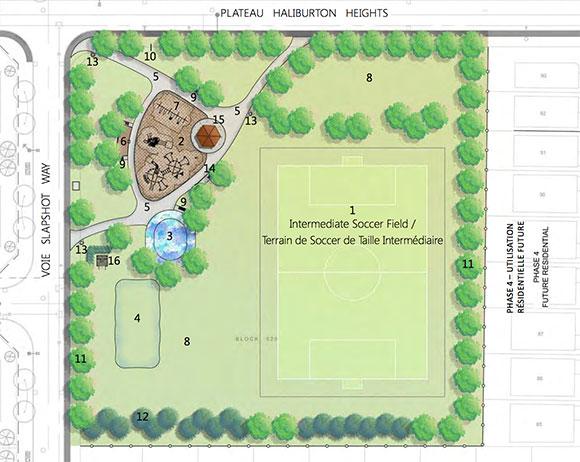 Haliburton Park layout