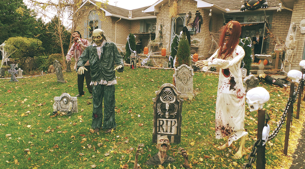 Halloween display at Sunnyside and Fernbank