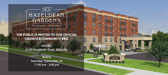 Hazeldean Gardens retirement home opening invite