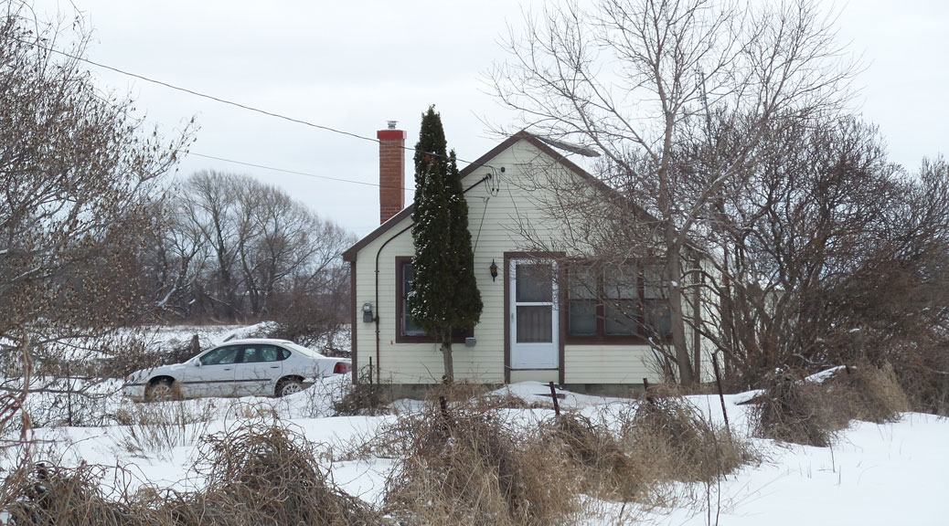 The small house on the Bradley-Craig property on Hazeldean Road. January 2017.