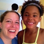 Dental hygienist helps patients in the Dominican Republic