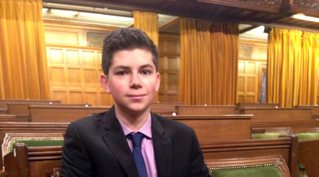 Stephen Hickson inside the House of Commons