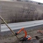 VIDEO: Raising the hydro poles along Huntmar