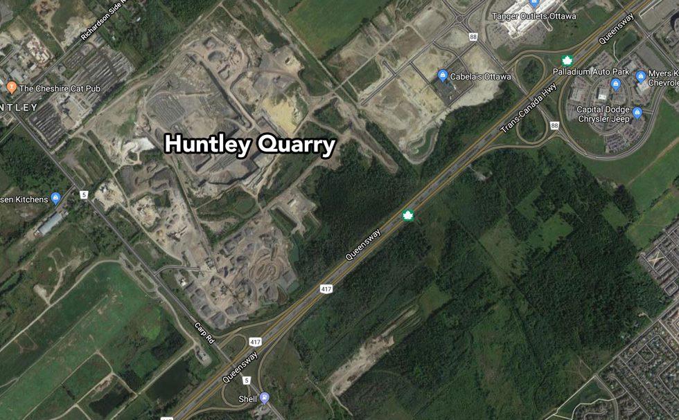 Huntley Quarry (via Google Maps)