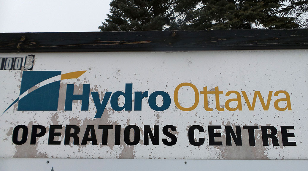 Sign at the Hydro Ottawa Operations Centre.