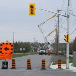 Section of Maple Grove closed on Saturday for more hydro pole relocation work