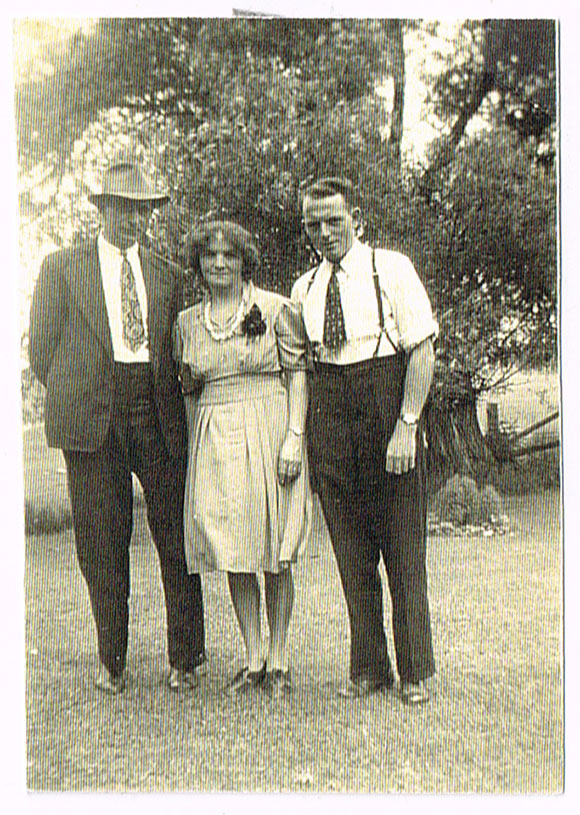 Scott, Lilly and Sterling James.  Date unknown.