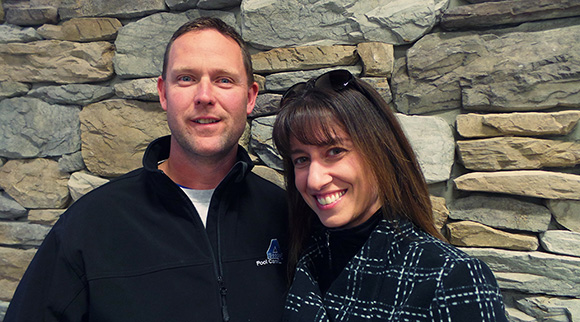 Scott and Angie Jessiman, owners of 4 Season Pool & Spa