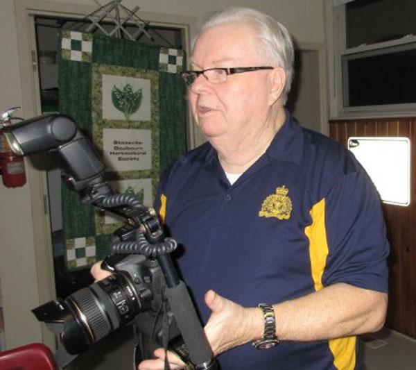 John Brummell talks to the Stittsville Goulbourn Horticultural Society on February 20.