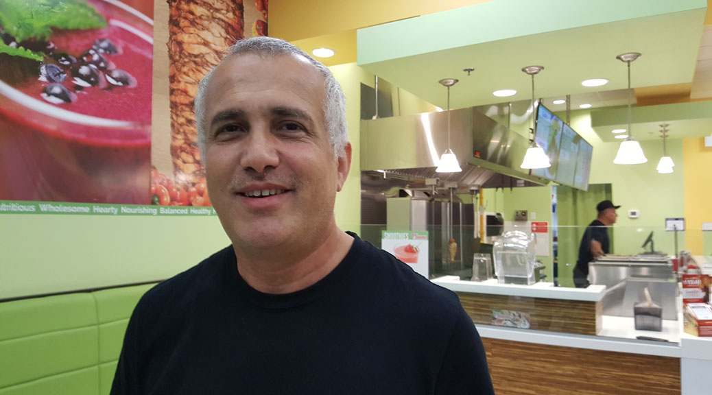 Just Shawarma owner Nedal Atieh. Photo by Glen Gower
