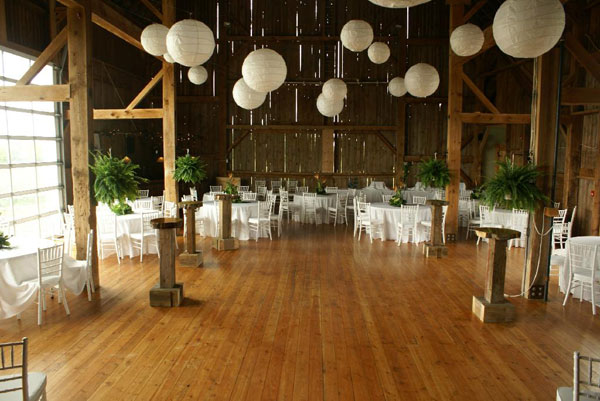 Inside the Kailey Barn at the Fields on West Lake