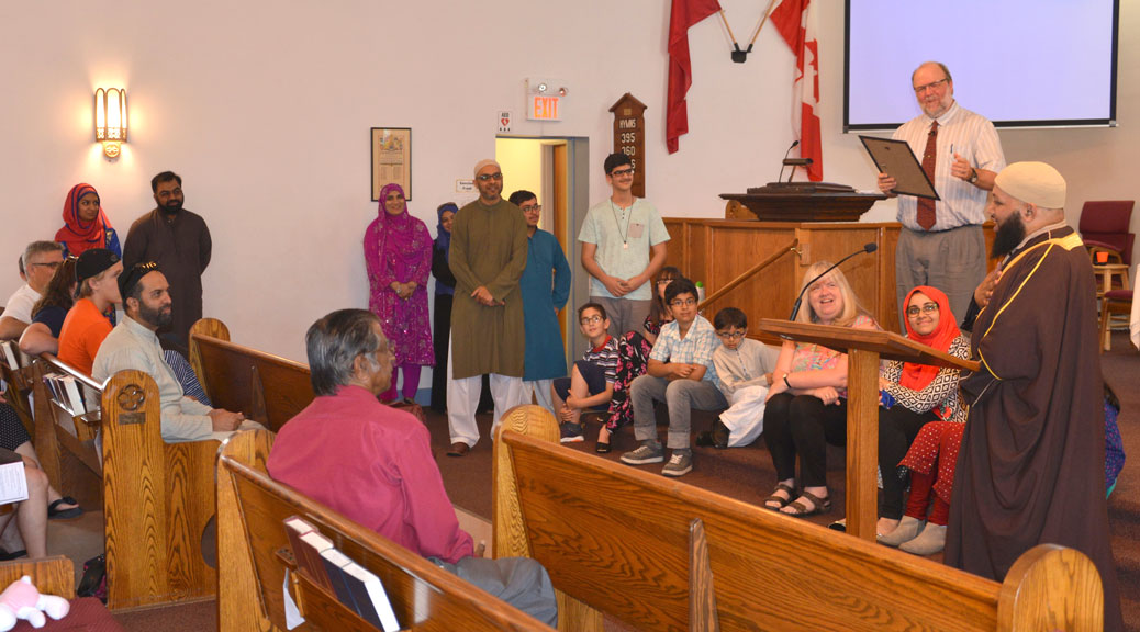 Kanata Muslim Association visits Stittsville United Church
