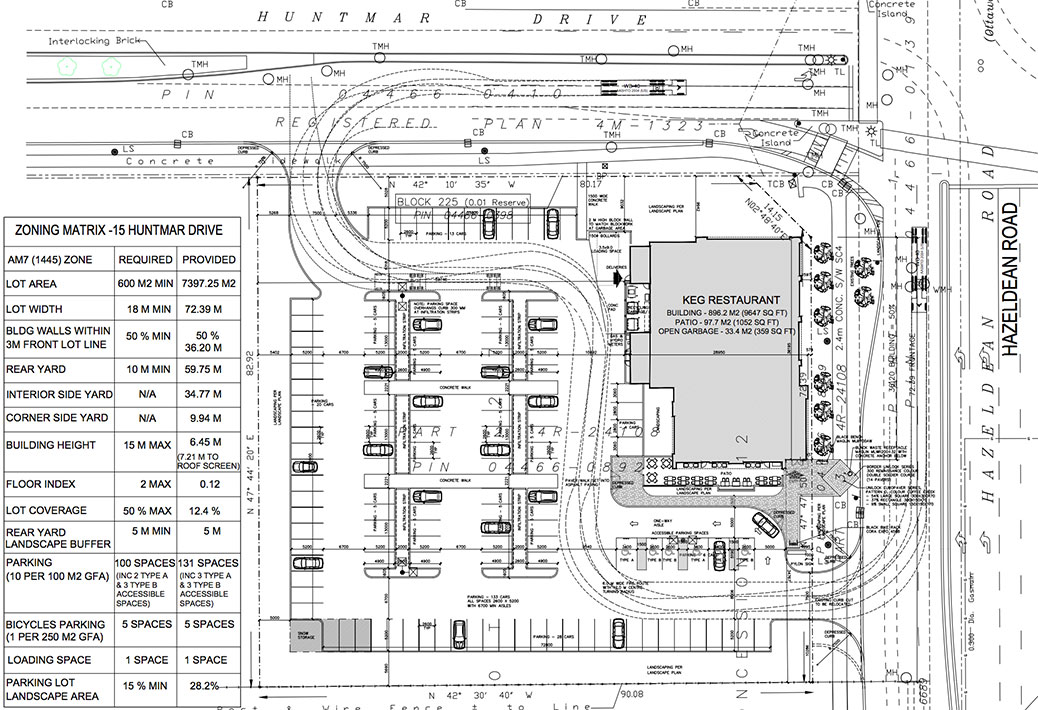 Keg Restaurant site plan