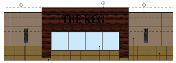 Proposed signage for the Keg restaurant
