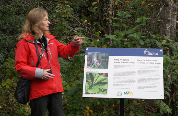 Janet Mason talks about the ecological diversity of the forest.
