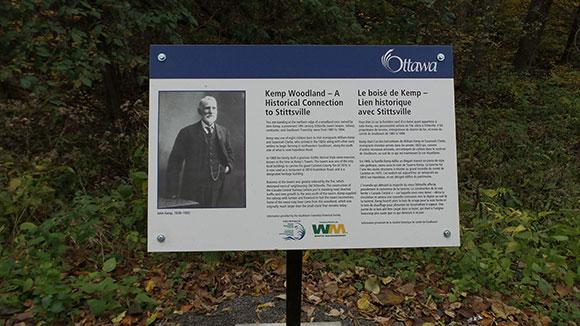 Kemp Woodland signage