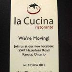 La Cucina moves from Kanata to Stittsville next month