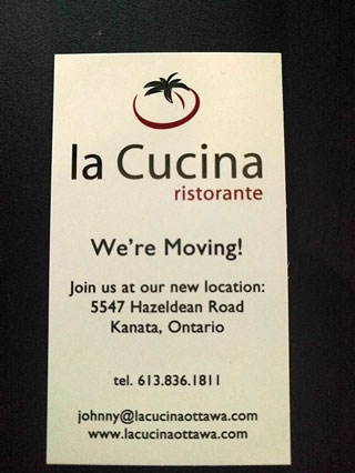 La Cucina moving from Kanata to Stittsville in June