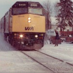 Library display marks 25 years since Stittsville's last VIA train