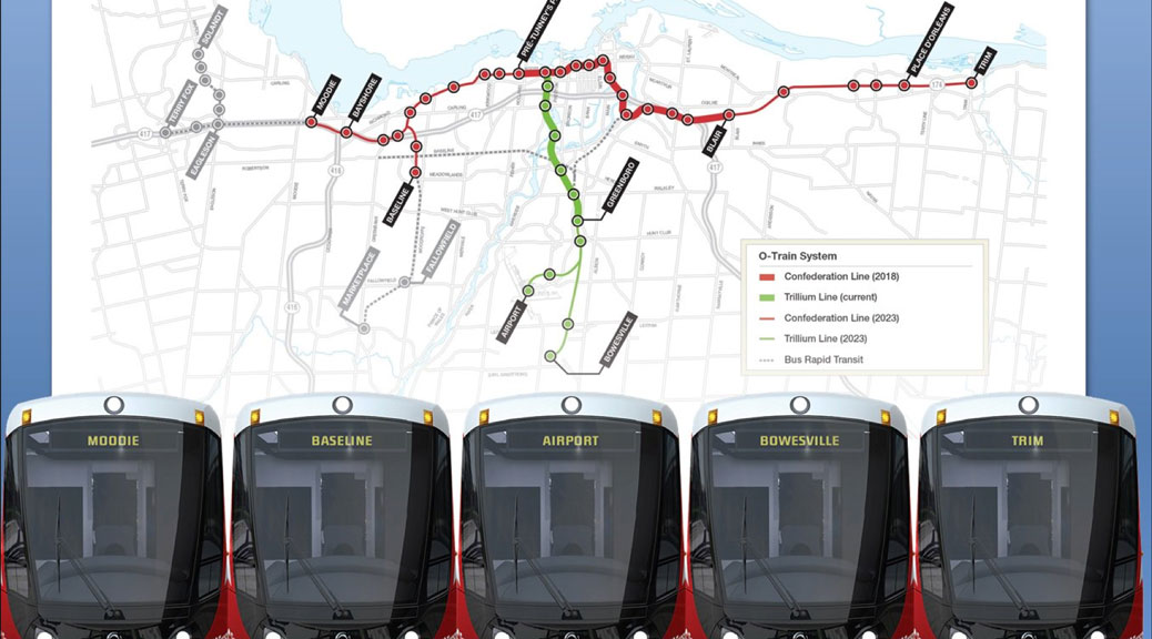 Light Rail Stage 2 / graphic via City of Ottawa