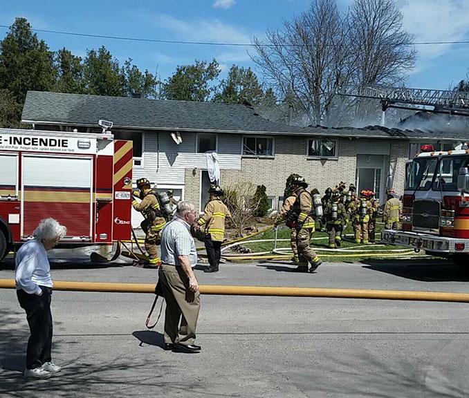 Fire on Lloydalex, May 2, 2015. Photo by Joaquin Benitez.