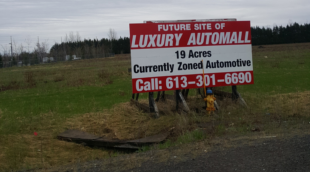 Future site of Luxury Automall