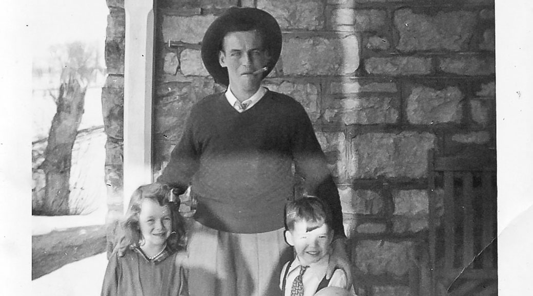 Lyman Boyd (son of Byron and Gertrude) with his neice, Karen Boyd on left and friend, David MacBeth, early 1950s. Photo courtesy of Melodie McCullough.