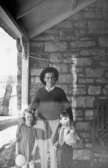 Lyman Boyd with his neice Karen Boyd and friend David MacBeth, in the early 1950s. Photo courtesy of Melodie McCullough.