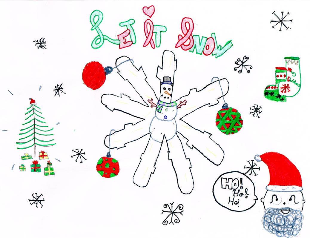 Let It Snow artwork by Maddie G