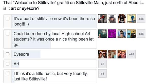 Main Street mural/graffiti poll.