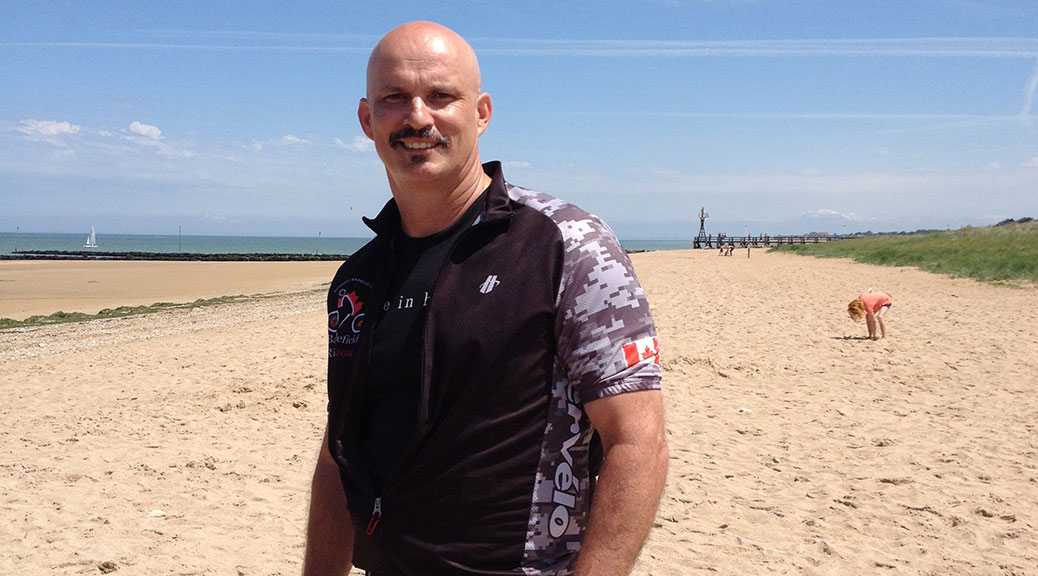 Matt Muzzi on June Beach, June 2014.