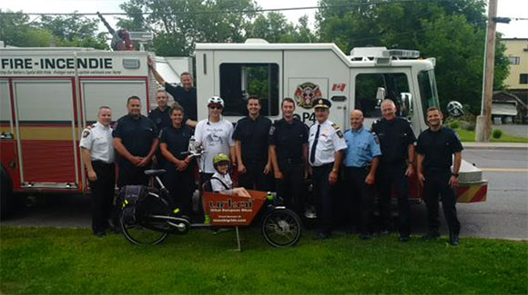 Firefighters welcome Max's Big Ride