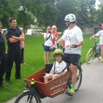 Firefighters greet Max on his Big Ride through Stittsville