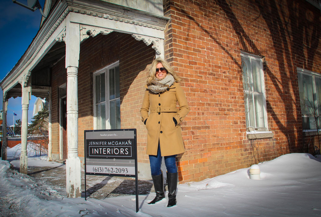 STITTSVILLE, ON, Dec 30, 2016. Jennifer McGahan in front of the building on Main Street that she has purchased and will renovate for her business. Barry Gray (StittsvilleCentral)