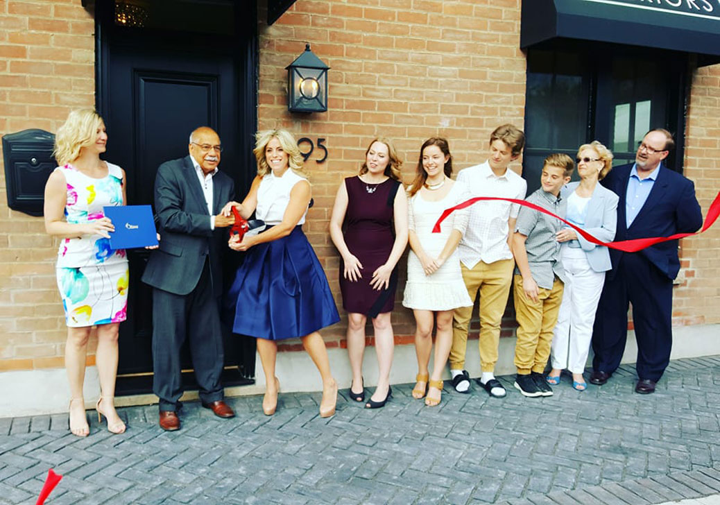 Jennifer McGahan Interiors - ribbon cutting