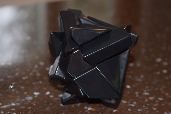 "This unique cube is called a ""ghost"" cube. McMahon says it's a special challenge and he can take up to three or four minutes to solve it."