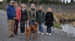 Stittsville residents are concerned about the health of the Upper Poole Creek Wetland. From left to right: Marcos Alvarez, Jonah Alvarez, Andrea Sedgwick, Ken McRae, Sylvie Sabourin, Mila (last name unknown). Photo via Ken McRae.