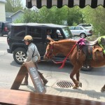 PHOTOS: Megan Lewis and her horse Lady stop in at Quitters