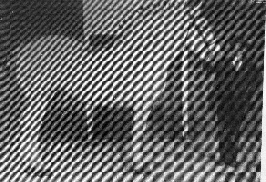 Joe Lewis and his horse Milton, 1927. Photo via the Stittsville Women's Institute / Tweedsmuir History Collection.