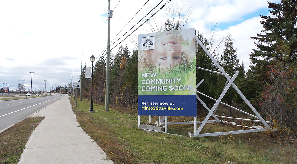 Sign for Minto's Potter's Key neighbourhood
