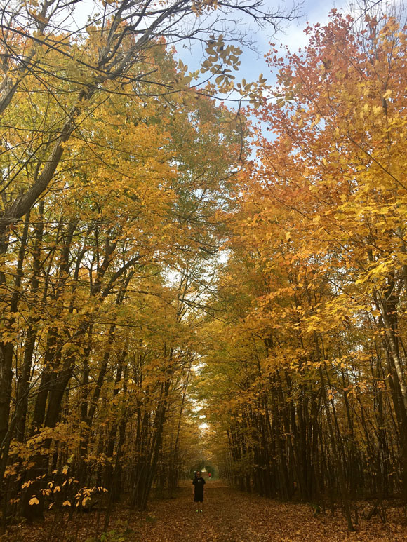 Hiking the Old Quarry Trail near Eagleson/Hazeldean. Photo by Emma Moore.
