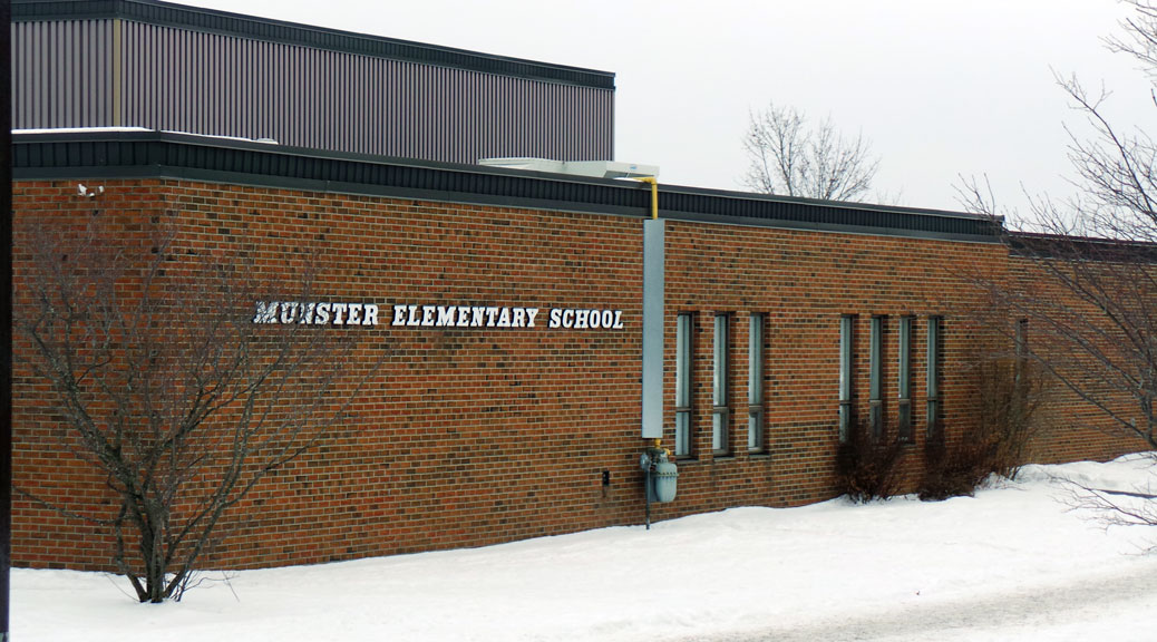 Munster Elementary School, January 2015. Photo by Glen Gower.