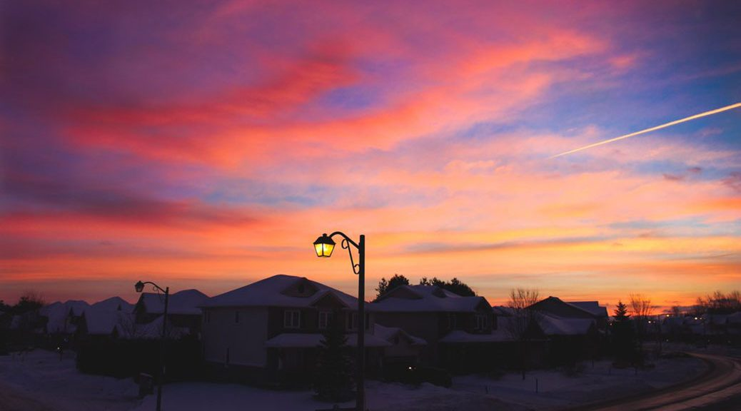 Winter Sunrise by Grace Mysak, taken early on December 30, 2016.