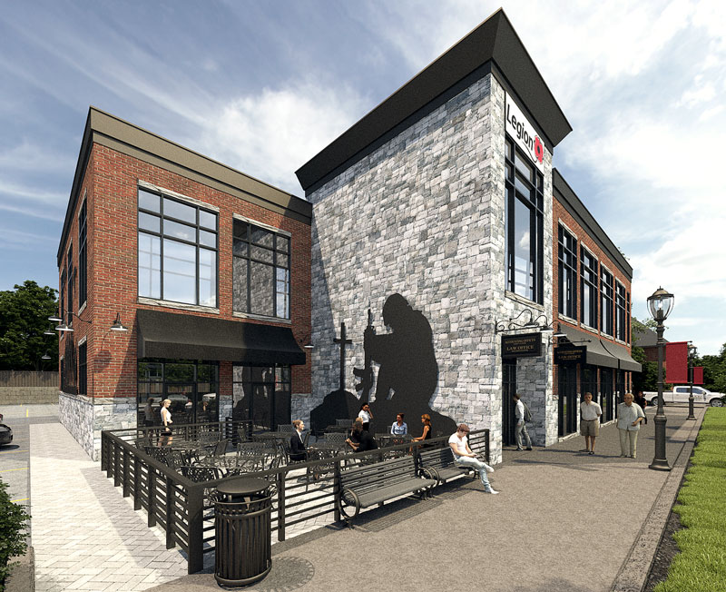 Rendering of the proposed new Stittsville Legion building. Via Hierarchy Development & Design.