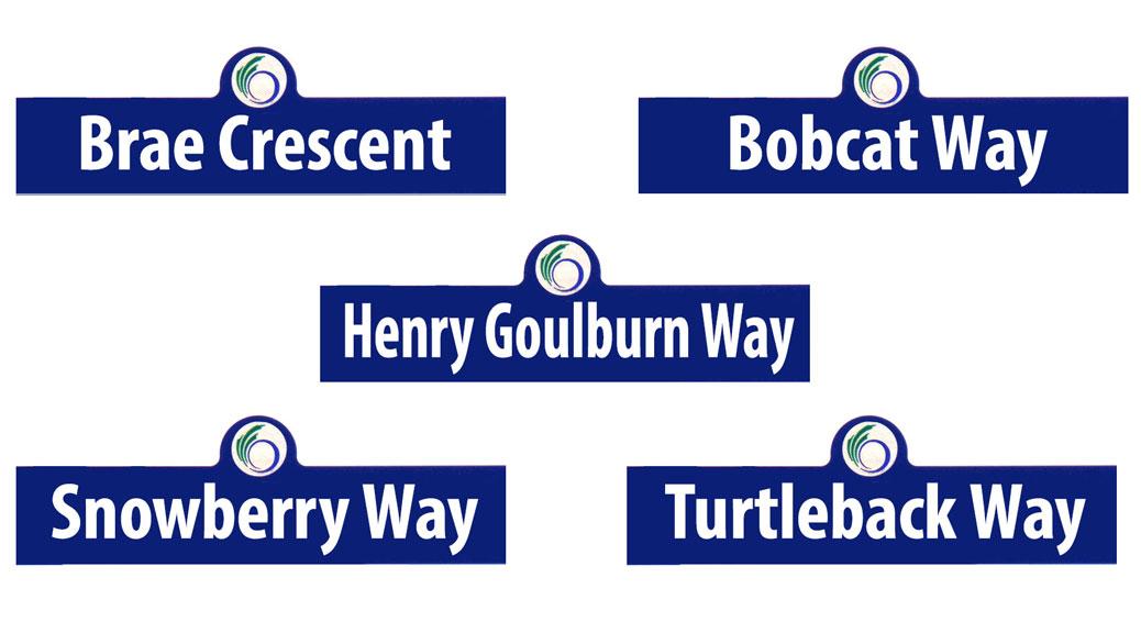 New Stittsville street names