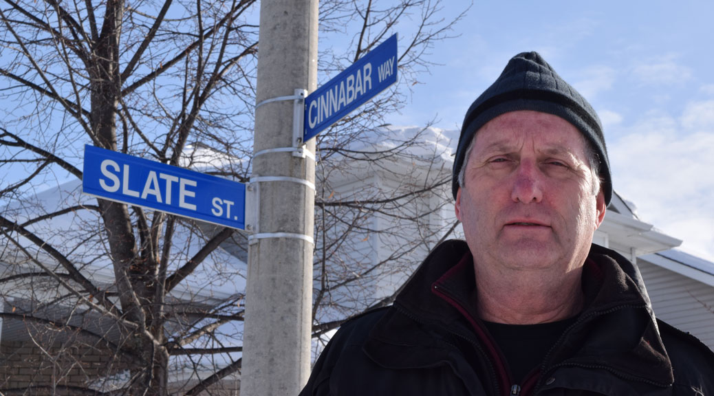 John O'Dacre lives in Granite Ridge, near the Magna Terra marijuana dispensary on Iber Road. He says he doesn't oppose marijuana itself but wants there to be a legal framework before dispensaries open. Photo by Devyn Barrie.