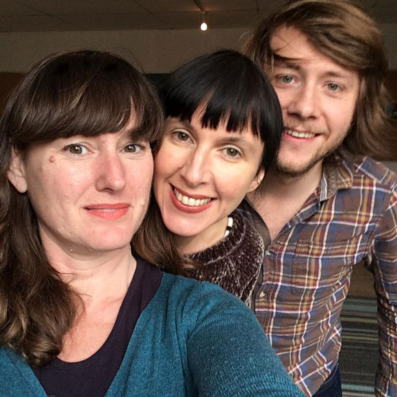 Left to right: Oh Susanna,  Hannah Sanders, and Ben Savage. They'll perform at Quitters on Sunday, December 4.