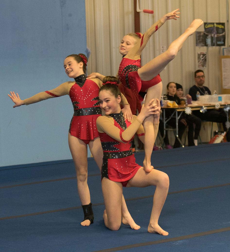 Olympia Gymnastics acro competition. Photo by Dan Pak.