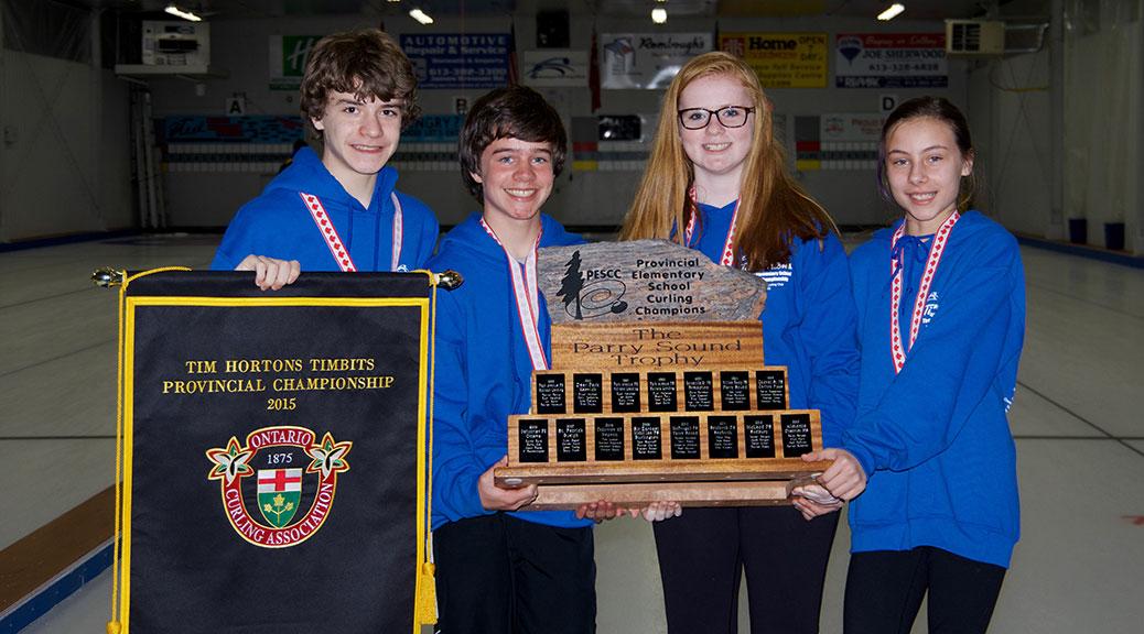 Kars On The Rideau School curling team