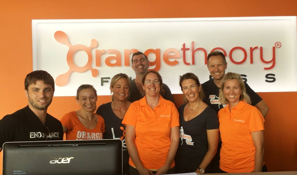 The staff at Orangetheory Fitness (Huntmar @ Hazeldean) get set for Thursday's opening.